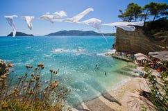 Cameo island with famous beach, Zakynthos, Greece. Cameo island with famous beach - Zakynthos, Greece stock image