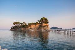 Cameo Island at sunset, Zakynhtos, Greece Stock Photos
