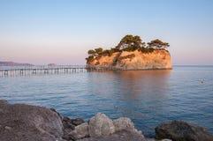 Cameo Island at sunset, Zakynhtos, Greece Royalty Free Stock Photography