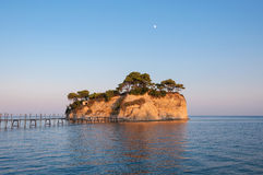 Cameo Island at sunset, Zakynhtos, Greece Stock Photos