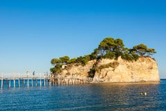 Cameo Island in Zakynthos Zante island, in Greece. Cameo Island in Zakynthos Zante island in Greece royalty free stock images