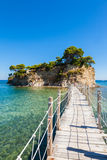 Cameo Island in Zakynthos Zante island, in Greece Royalty Free Stock Images