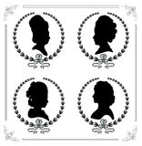 Cameo set Royalty Free Stock Photos