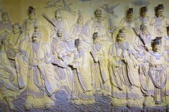 Cameo of Taoist Immortals. The cameo of Taoist Immortals in Kongtong Mountain in Gansu, China stock image