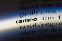 Cameo. Word in a dictionary.  concept stock photos