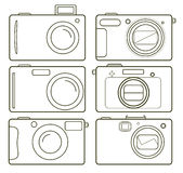 Camer dos ícones Fotos de Stock