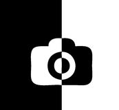 Camer icon black and white comic difference Stock Photography