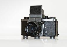 Camer mecanicamente operado velho do reflexo da único-lente Foto de Stock