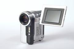 Camera. Small silver digital video camera Stock Image