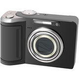 Camera. Digital camera on a white background royalty free stock photography