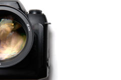 Camera. Professional digital camera closeup with lens royalty free stock photography