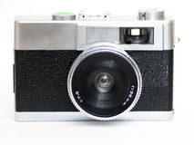 Camera. Front view vintage compact camera Royalty Free Stock Photography
