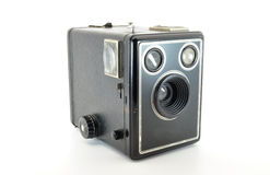 Camera. Box brownie isolated on white Stock Images