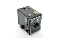 Camera. Box brownie camera top view isolated on white Royalty Free Stock Photos
