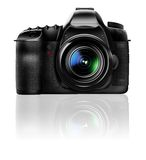 Camera. Professional DSLR Camera with lens 24 - 105 Digital Painting Stock Photography