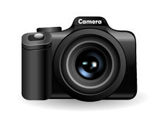 Camera. On white.  Vector illustration Stock Photos