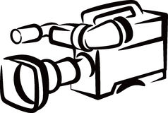Camera. Simple illustration with video camera Stock Images