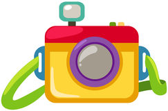 Camera. Illustration of isolated cartoon camera on white vector illustration