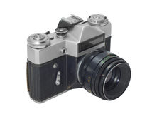 Camera. Old camera isolated on the white background, with clipping path included royalty free stock images