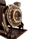 Camera 3. Historical camera with swinging out bellows, isolated royalty free stock images
