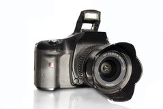 Camera. Digital photo camera on white background Stock Photos
