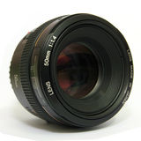 Camera 50mm Lens. Image of a Camera 50mm Prime Lens isolated with white background Stock Image