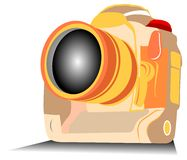 Camera. Illustration for the Professional Digital Camera Vector Illustration