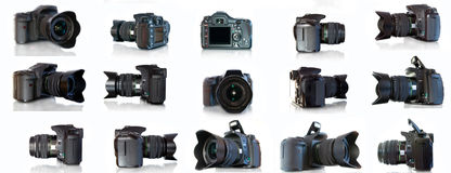 Camera. Photo camera isolated on white Stock Photos