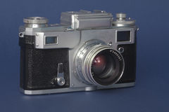 Camera. Old soviet range finder camera Royalty Free Stock Photography