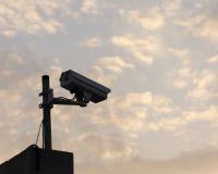 Camera. Security camera stock image