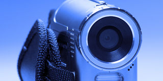 Camera. Small silver digital Camera with flashlight Stock Photos