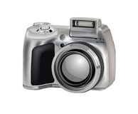 Camera. Modern digital  camera , hand drawn illustration Royalty Free Stock Photography