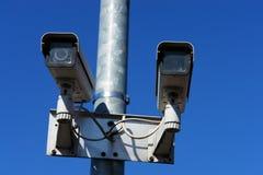 Camera. Surveillance security camera on wall Royalty Free Stock Image