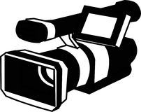 Camera. Black and white digital camera illustration Royalty Free Illustration