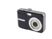 Digital Compact Camera. A digital compact camera isolated on white with clipping path Royalty Free Stock Photo