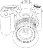 Camera. Digital camera isolated on white background. Vector illustration Royalty Free Stock Image