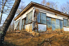 Camera abbandonata Immagini Stock Libere da Diritti