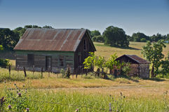 Camera abbandonata dell'azienda agricola immagini stock libere da diritti