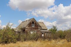 Camera abbandonata a Robsart Saskatchewan Immagini Stock
