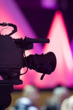 Camera on abstract background Stock Photos