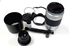 Camera accessories. For photographic and clean equipment Stock Photo