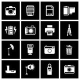 Camera Accessory Icons. Vector Stock Images