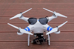 Camera for aerial photography Stock Photos
