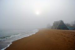 Camera alla linea costiera Fotografie Stock Libere da Diritti