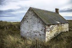 Camera alla st Cyrus Beach, Scozia immagini stock