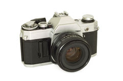 Camera (Angle). An old 35mm film camera Royalty Free Stock Image