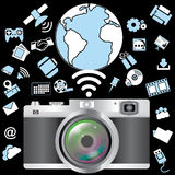 Camera and application Stock Images