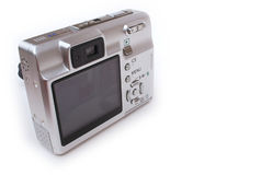 Camera back. Back view of a point and shoot digital camera Royalty Free Stock Photos