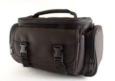 Camera bag. Black camera bag isolated on white background stock image