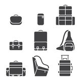 Camera bag icon set Royalty Free Stock Images